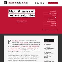 Algorithmes et responsabilités