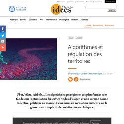 Algorithmes et régulation des territoires