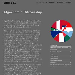 Algorithmic Citizenship