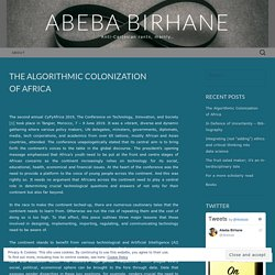The Algorithmic Colonization of Africa