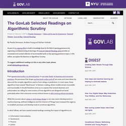 The GovLab Selected Readings on Algorithmic Scrutiny - The Governance Lab