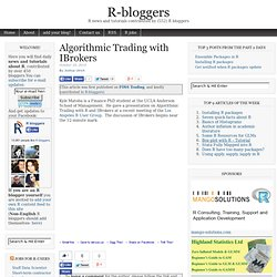 Algorithmic Trading with IBrokers