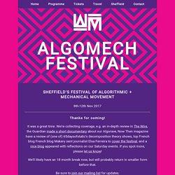 AlgoMech Festival - Algorithmic and Mechanical Music+Art