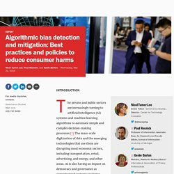 Brookings: Algorithmic bias detection and mitigation: Best practices and policies to reduce consumer harms