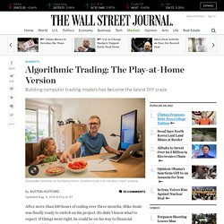 Algorithmic Trading: The Play-at-Home Version