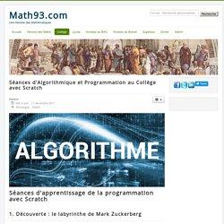 Algorithmique au collège