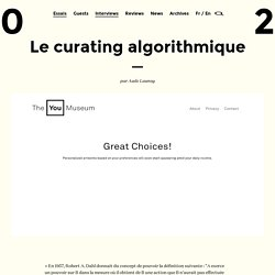 Le curating algorithmique