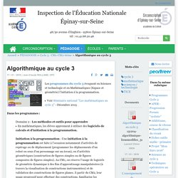 Algorithmique au cycle 3