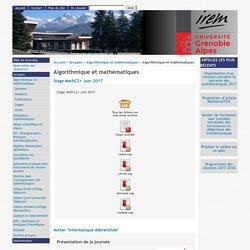 [IREM de Grenoble] : Algorithmique et mathématiques