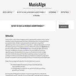 QU'EST-CE QUE LA MUSIQUE ALGORITHMIQUE ? – MusicAlgo