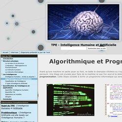 Algorithmique et Programmation - TPE - Intelligence Humaine et Artificielle