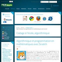 Algorithmique et programmation en mathématiques avec Scratch
