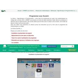 Algorithmique et Programmation au cycle4 - Programmer avec Scratch