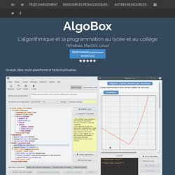 Algobox : algorithmique et programmation au lycée et au collège