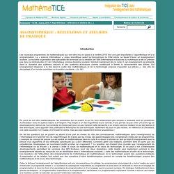 Algorithmique : réflexions et ateliers de pratique