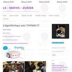 L'algorithmique avec THYMIO !!!