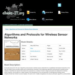 Algorithms and Protocols for Wireless Sensor Networks PDF Download Free