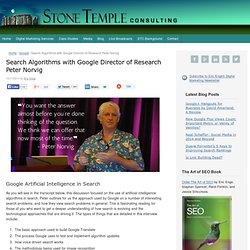 Search Algorithms with Google Director of Research Peter Norvig