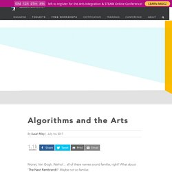 Algorithms and the Arts Build STEAM