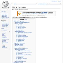 List of algorithms