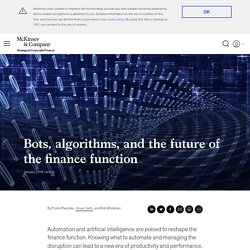 Bots, algorithms, and the future of the finance function