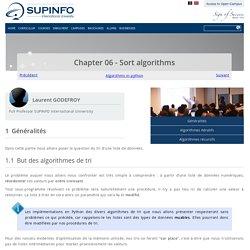 Chapter 06 - Sort algorithms - SUPINFO International University