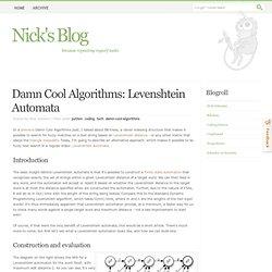 Damn Cool Algorithms: Levenshtein Automata
