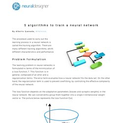 5 algorithms to train a neural network