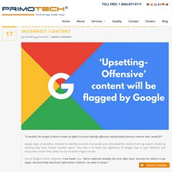 Google Algorithms to Spot Offensive Content