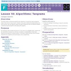 Algorithms: Tangrams