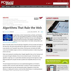 Algorithms That Rule the Web