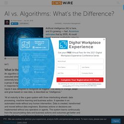 AI vs. Algorithms: What's the Difference?