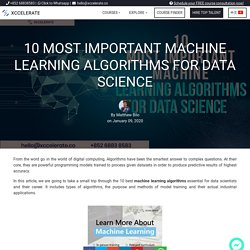 10 Most Important Machine Learning Algorithms for Data Science