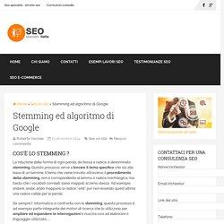 Stemming ed algoritmo di GoogleSeo Specialist Italia