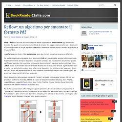 Reflow: un algoritmo per smontare il formato Pdf
