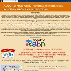 ALGORITMOS ABN. Por unas matemáticas sencillas, naturales y divertidas.: División. 4º de Primaria. División por una y dos cifras.