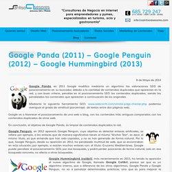 Algoritmos Panda, Penguin y Hummingbird