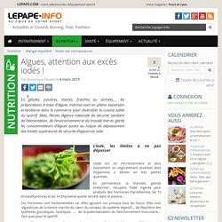 Algues, attention aux excès iodés !