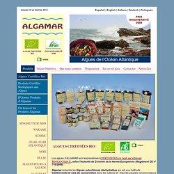 Algues sèches et produits élaborés avec des algues.