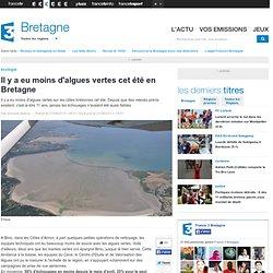 FRANCE 3 BRETAGNE 27/08/13 Il y a eu moins d'algues vertes cet été en Bretagne