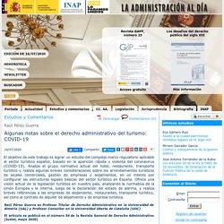 Algunas notas sobre el derecho administrativo del turismo: COVID-19