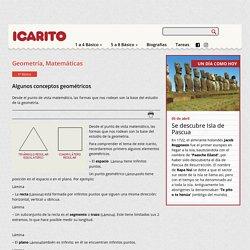 Algunos conceptos geométricos Icarito