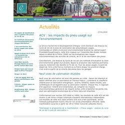 Actus - Les impacts du pneu sur l'environnement