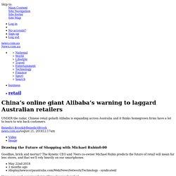 Alibaba in Australia: E-commerce company talks 'new retail' concept