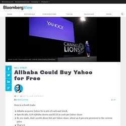 Alibaba Could Buy Yahoo for Free