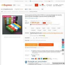 O envio gratuito de 50 pçs/lote 2*2*8.5 cm caixa de embalagem do tubo Do batom/Lip balm embalagem caixa ferramentas de BRICOLAGE Loja Online