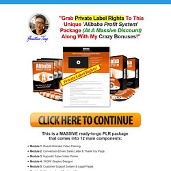 Alibaba Profit System PLR Package