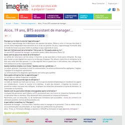 Alice, 19 ans, BTS assistant de manager...