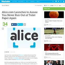 Alice.com Launches to Assure You Never Run Out of Toilet Paper A