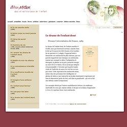 Alice Miller Le drame de l'enfant doué
